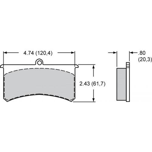 150-8856K Wilwood Brake Pads Smartpad BP-10 #7320