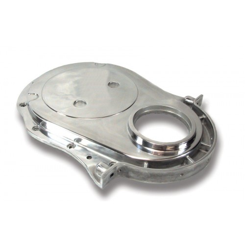 Big End Polished Aluminum Timing Chain Cover BEP70083