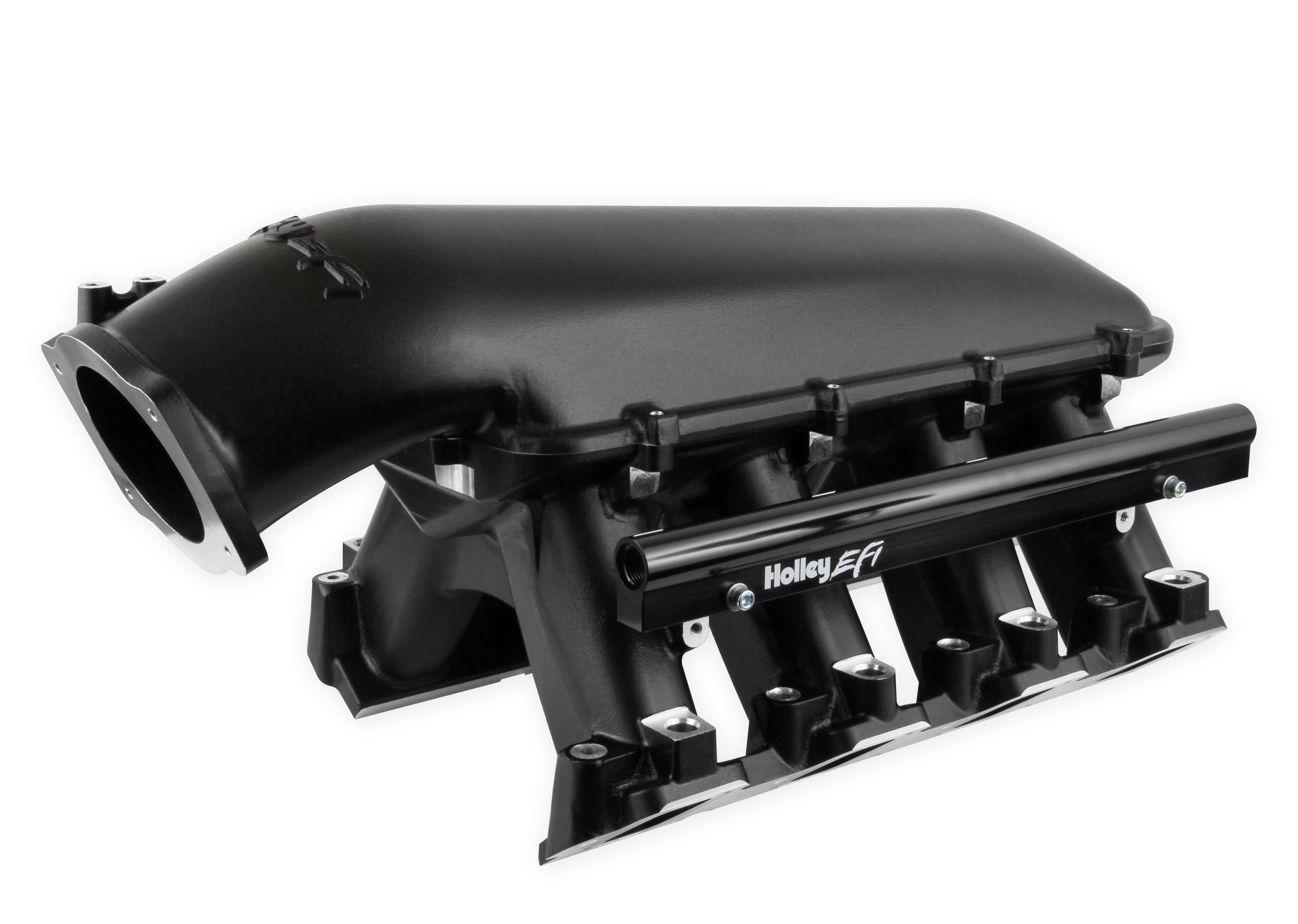 Holley LS Hi-Ram EFI Manifold-Black-LS7 EFI w/ 92MM Throttle Body 300-124BK