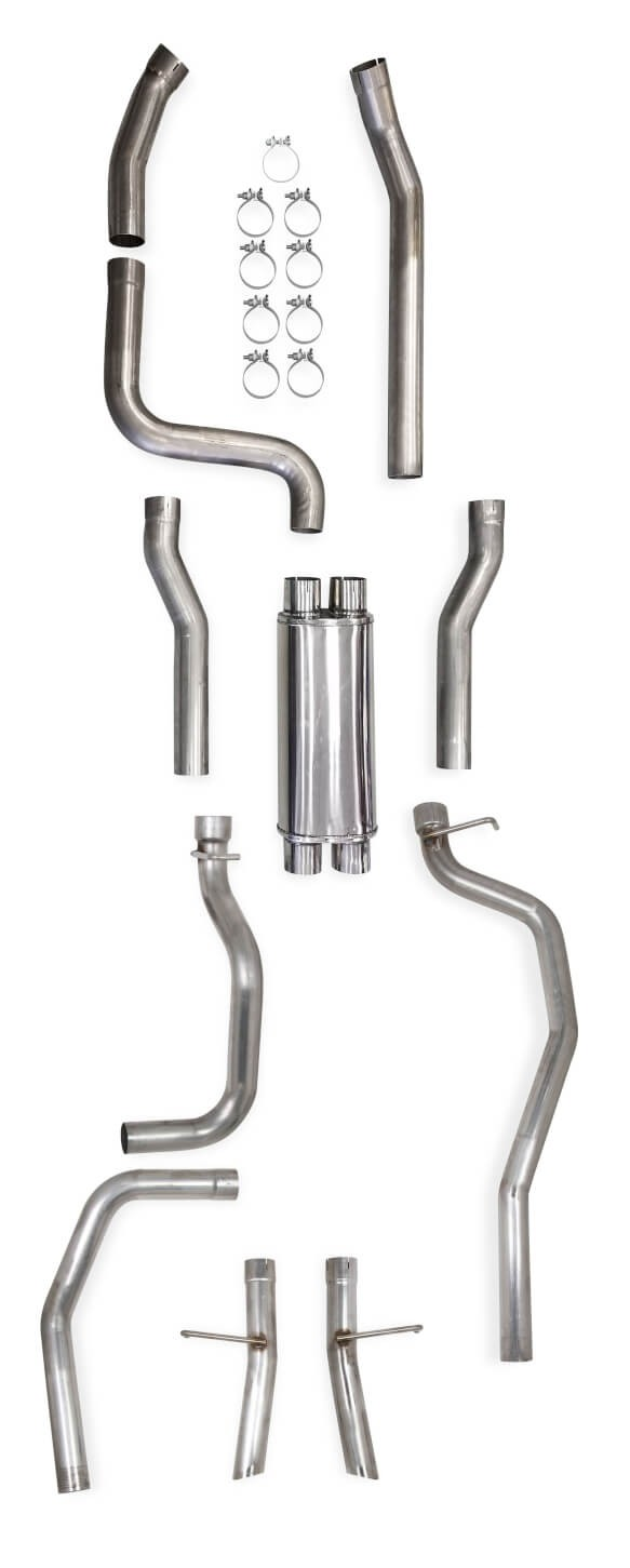 Hooker BlackHeart LS Swap Exhaust – Dual Exit, 1994-'04 GM S-10/Sonoma 2WD 705014154RHKR
