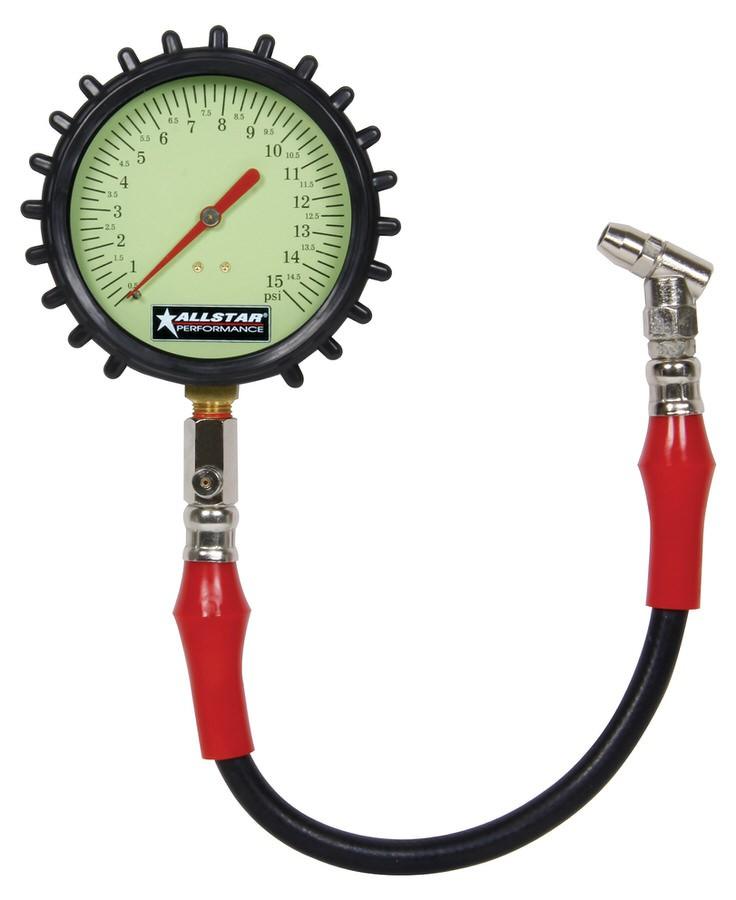 "Allstar Tire Pressure Gauge 4"" ALL44046"