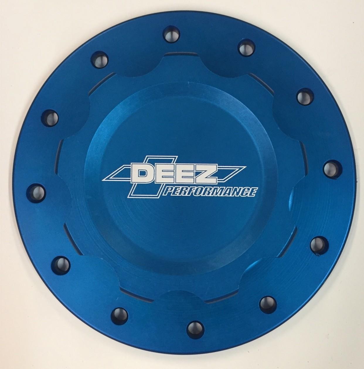 DEEZ Performance 12-Bolt Billet Aluminum Fuel Cell Cap & Bung Assembly-Blue