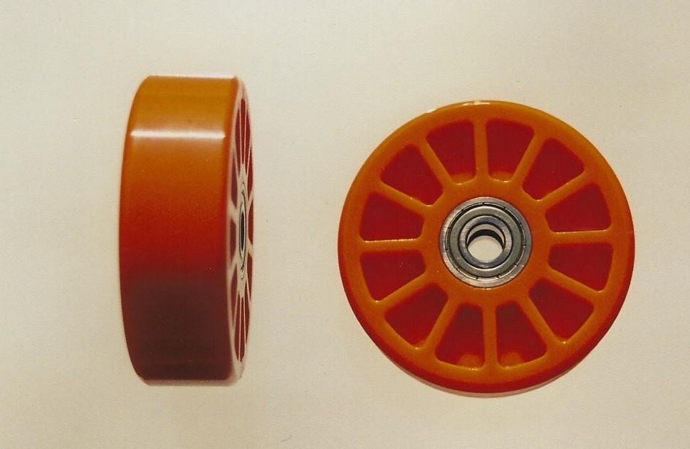 """Wheelez Wheelie Bar Wheels 1/2"""" Axle Bolt X 1.25"""" Wide - Two Wheels WHL001"""