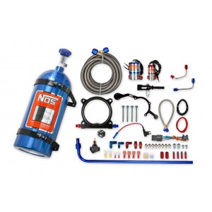 NOS complete wet nitrous system for 2015-2017 Mustang with 5.0L Coyote Engine-Blue 02126NOS