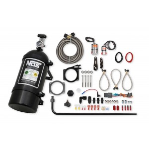 NOS Complete Wet Nitrous System for GM LS Engines with 90mm or 92mm 4-Bolt Drive-by-Wire Throttle Body-Black 05164BNOS
