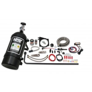 GM LS-engine wet nitrous system for 102mm or 105mm drive-by-wire throttle bodies 05173BNOS