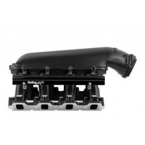 Holley LS Hi-Ram EFI Manifold- Black-LS7 EFI fits 1 x 105MM Throttle Body 300-125BK