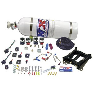 Nitrous Express Phase 3 Shark Plate System with 15lb Bottle