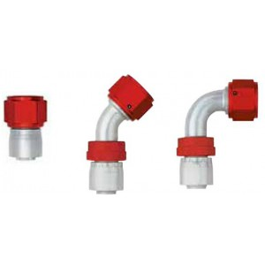 Aeroquip Aluminum Lightweight Crimp Swivel Fittings