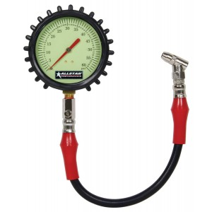 "Allstar 4"" Glow in the Dark Tire Pressure Gauges"
