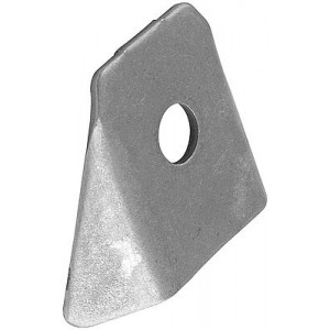 Mild Steel Body Brace Tab Flat Mount, ALL60024