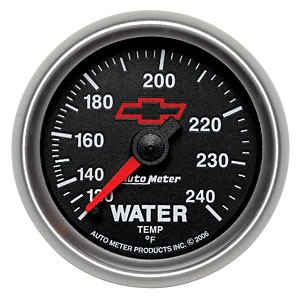 Auto Meter Chevy Bow Tie Water Temperature