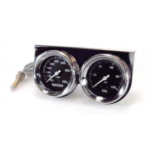 "Big End Gauge Kit 2-5/8"" Chrome Dual Kit"