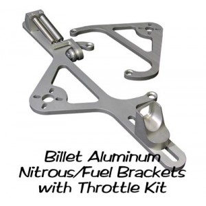 Big End Billet Aluminum Nitrous and Fuel Solenoid Brackets with Throttle Cable Bracket