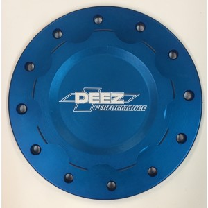 DEEZ Performance 12-Bolt Billet Aluminum Fuel Cell Cap & Bung Assembly-Blue