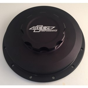 DEEZ Performance Billet Aluminum Inner Cooler Cap w/Bolt on Bung-Black