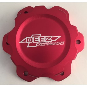 DEEZ Performance Billet Aluminum Fuel Cell Cap and Bung Assembly-6 Bolt Red
