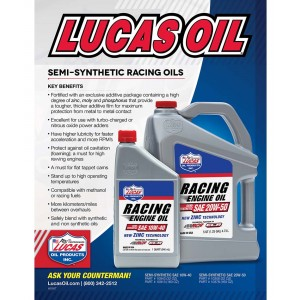 Lucas Semi-Synthetic Racing Oil